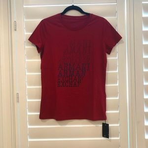 Armani Exchange spell out t-shirt